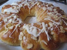 Almond ring.  My mom bought one of these from Beaverton bakery every Christmas.  Thinking I should try making one this year.