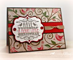 So love the new CTMH Christmas paper. Allisa Chilton's card is such a beautiful example of this paper