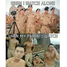 """""""Do not watch k-drama with your parents. Korean Drama Funny, Korean Drama List, Korean Drama Quotes, W Kdrama, Kdrama Memes, Kdrama Actors, Descendents Of The Sun, Song Joong, Drama Fever"""
