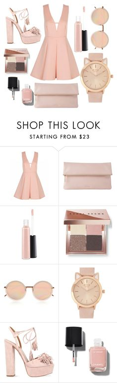 """""""Pink Carpet."""" by denisegul ❤ liked on Polyvore featuring Whistles, MAC Cosmetics, Bobbi Brown Cosmetics, Linda Farrow, Aquazzura and Chanel"""