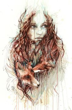 Comfort   Carne Griffiths   Paintings made by tea and ink, creating a journey of escapism which focuses on scenes of awe and wonder, projecting a sense of abandonment and inviting the viewer to share and explore this inner realm