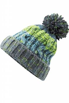 Beechfield Unisex Adults Corkscrew Knitted Pom Beanie Hat Bonnet Mixte
