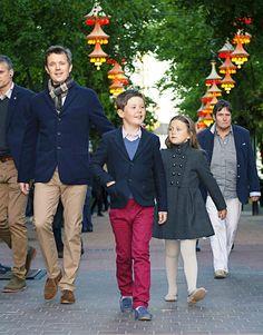 """kronprinsenfrederik:  Danish Royal Family attend Hans Christian Andersen's """"The Swineherd"""" ballet at the Pantomime Theatre, Tivoli Gardens, June 3, 2015-Crown Prince Frederik, Prince Christian and Princess Isabella"""