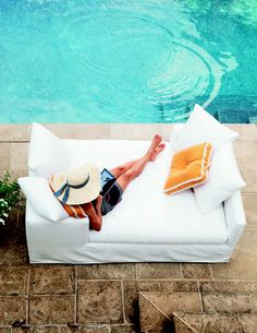 Having midweek delusions of lounging by a refreshing pool, on the coziest daybed ever, all troubles long gone..