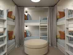 Bunkroom with privacy curtains... Perfect as guest room...