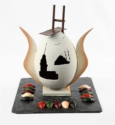 that is chocolate like a dream...with items: Istanbul,Sultanahmet moscue, Maiden's Tower, gull, tulip