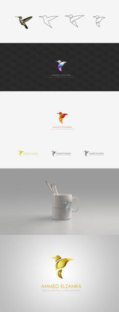 Humming Bird Logo Design by ~ahmedelzahra on deviantART
