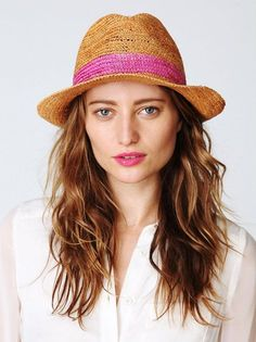 86074882b2340e 59 Best Straw Fedora Hats For Women images in 2013 | Straw fedora ...