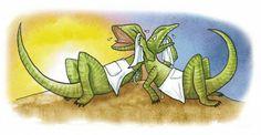 El lagarto está llorando. La lagarta está llorando.