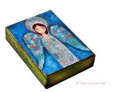 Madre de ternura  Aceo Giclee imprime montado sobre madera