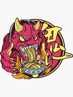 Mo Design, Japan Design, Oni Demon, Japanese Gifts, Japanese Food, Ramen Bowl, Fish Drawings, Decorate Notebook, Ramen Noodles