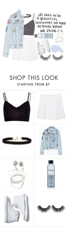 """()what is happening to me()"" by justtypical ❤ liked on Polyvore featuring River Island, Monki, Vanessa Mooney, Zara, philosophy, Keds and Deborah Lippmann"