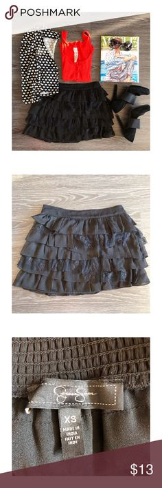Jessica Simpson black lace skirt - new, never worn  - black lace skirt - easily paired with any tops  - Product color may slightly vary due to photographic lighting sources or your monitor settings  - Do accept offers  - No returns Jessica Simpson Skirts Mini