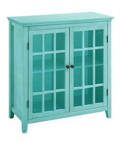 Turquoise Largo Two-Door Cabinet #zulily #zulilyfinds