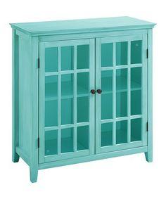 Turquoise Largo Two-Door Cabinet #zulily #zulilyfinds