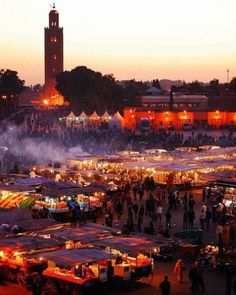Highlights of Marrakech Morocco | JEMAA EL FNA & THE NIGHT MARKET This vast plaza at the heart of the medina is truly the eye of the Marrakech storm. Quite frankly, to the unaccustomed, Jemaa el-Fna is nuts. By night, Marrakech's main square transforms into a circus, a theatre and a restaurant with the intoxicating appearance of the renowned night market. Visit the blog to read & see more...: