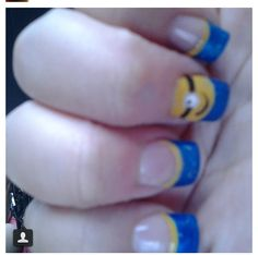 Despicable Me! Nails..#minionnails