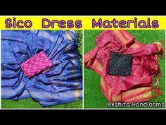 Ikkat Sico Tops With Ikkat Sico Duppatas || Pochampally Ikkat Silk Dress Materials - YouTube Whatsapp Message, Silk Material, Silk Dress, Youtube, Tops, Dresses, Silk Gown, Vestidos, Dress