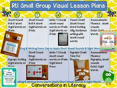 intervention lesson plans for rti