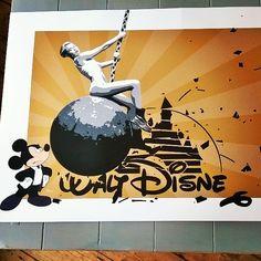 Miley's Smash Hits #silkscreen #graffiti #streetart #mileycyrus #Miley #wreckingball #Disney #mickeymouse