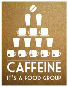 Caffeine ~ it's a food group