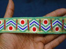 Mint Green Embroidered designer Trim