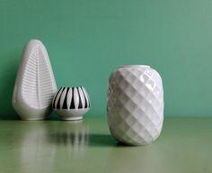 Vintage Vasen - ☘ Vintage Thomas Holiday Vase Waben Porzellan 60er - ein…