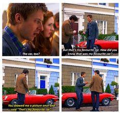 His favorite car :D