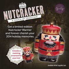 #Scentsy Nutcracker Warmer: The traditional guardian of good luck and goodwill, this limited edition, numbered 2014 #Nutcracker is an iconic symbol of #Christmas. #ballet #iamwickless