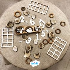 EYFS children will enjoy going on a nature hunt and counting irregular arrangements of the natural objects they have collected in this EYFS maths activity. Maths Eyfs, Eyfs Classroom, Numeracy, Nursery Activities, Group Activities, Educational Activities, Counting Activities Eyfs, Learning Spaces, Learning Environments