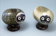 Glass Art Design, Ceramic Owl, Glass Birds, Scandinavian Design, Finland, Owls, Sculptures, Place Card Holders, Ceramics