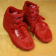 80s Reebok ...OMG!!!!  I had these! Wore them EVERYWHERE. Loved that they were RED ;-)