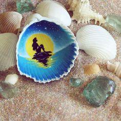 Painted Ariel disney shell