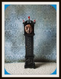 Gothic Witch Haunted Wizard Halloween Grandfather Clock Ghost Dollhouse…