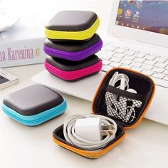 Cheap pouch box, Buy Quality earbud pouch directly from China earphone storage bag Suppliers: Hot Mini Zipper Hard Headphone Case PU Leather Earphone Storage Bag Protective USB Cable Organizer, Portable Earbuds Pouch box Cable Storage, Wire Storage, Storage Boxes, Bag Storage, Makeup Storage, Leather Case, Pu Leather, Box Container, Carte Sd