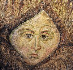A hidden angel figure in Hagia Sophia's mosaic.