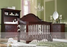 , Admirable Traditional Mahogany Wood Convertible Cribs For Baby Dream Furniture Also Lovely White Rabbit And Teddy Bear Doll Also Wonderful Chendelier Also Mahogany Wood Chest Of Drawer: Realizing the Dream Baby Nurseries with Baby's Dream Furniture Baby Furniture Sets, Baby Nursery Furniture, Dream Furniture, Kids Furniture, White Furniture, Baby Boy Rooms, Baby Boy Nurseries, Baby Cribs, Wood Crib