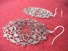 Earrings Flamenco silver by DemyBlackDesign on Etsy, $15.00