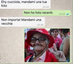 mandami una vecchia... Funny Phrases, Funny Quotes, Funny Memes, Hilarious, Funny Chat, Italian Memes, Lol, Super Funny, Laugh Out Loud