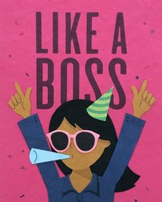 """Our """"Like A Boss Lady"""" card is lovingly handcrafted in the Philippines by women survivors of sex trafficking. The card incorporates a variety of handmade, recycled papers, making it environmentally sustainable, too. Happy Birthday Boss Lady, Happy Birthday Pictures, Cute Fonts, Color Crafts, Like A Boss, Cute Illustration, Happy Quotes, Birthday Cards, Handmade"""