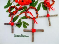 The Rowan Cross and Red Thread Charm: An Ancient Charm Of Protection