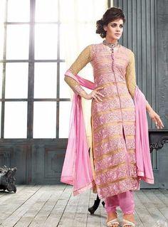 f23ceb02b819 Kesari 5003 - Pink Color Georgette Long Designer Suit Anarkali Suits