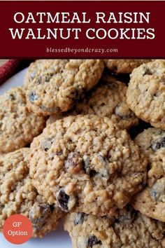 Oatmeal Raisin Walnut Cookies are a wonderful treat that everyone seems to love. They are easy to make gluten-free and freeze well for use later. Walnut Cookie Recipes, Drop Cookie Recipes, Walnut Cookies, Oatmeal Cookie Recipes, Oatmeal Chocolate Chip Cookies, Cookie Desserts, Dessert Recipes, Xmas Recipes, Fun Recipes