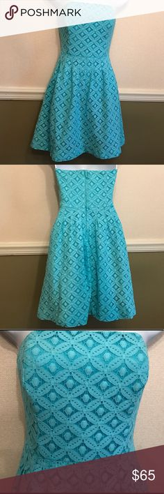 "Lilly Pulitzer ""Caitlin"" strapless dress  Lilly Pulitzer ""Caitlin"" strapless dress, size 0. Stunning workmanship in this gently worn summer dress. Really lovely detailing. So popular it can't be bought in stores anymore - a steal!  Lilly Pulitzer Dresses Strapless"