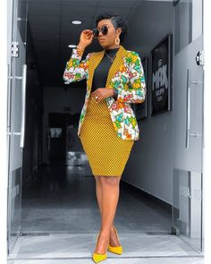 African Print Blazer Jacket with Mini Skirt - Ankara Print - African Dress - Two Piece Outfit - Hand Short African Dresses, Latest African Fashion Dresses, African Print Fashion, Africa Fashion, African Prints, Modern African Fashion, Ghana Fashion, African Print Dresses, Dressy Outfits