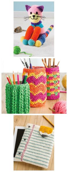 3 of the crochet designs featured in the August issue of Crochet World. Order now: https://www.anniescatalog.com/detail.html?prod_id=132144.