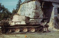 A knocked out German Panzer V Panther tank, Normandy, The Panther is considered to be the best tank of World War II, being heavily influenced by the Russian Panzer Iii, Panther Images, Battle Of Normandy, D Day Invasion, Armored Fighting Vehicle, Ww2 Tanks, American Soldiers, War Machine, Military History