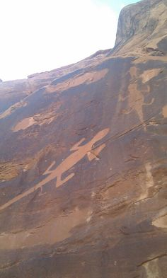 Rock art in Dinosaur National Park, Utah