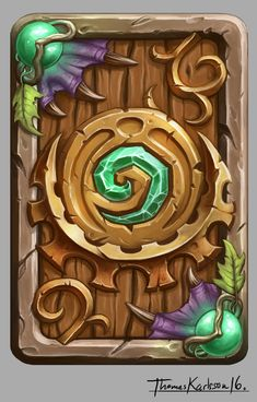 FanArt design for a Hearthstone (©Blizzard) Card back. Not official! Game Ui Design, Prop Design, Steampunk Weapons, Eyes Artwork, Game Textures, Hand Painted Textures, Blizzard Hearthstone, Game Background, Games