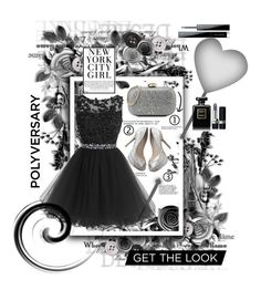 """""""Black"""" by gianna-pellegrini ❤ liked on Polyvore featuring Love Moschino, Jimmy Choo, Chanel, Givenchy and Christian Dior"""